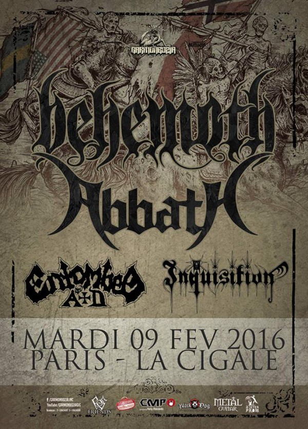Behemoth live Festival La Cigale Paris