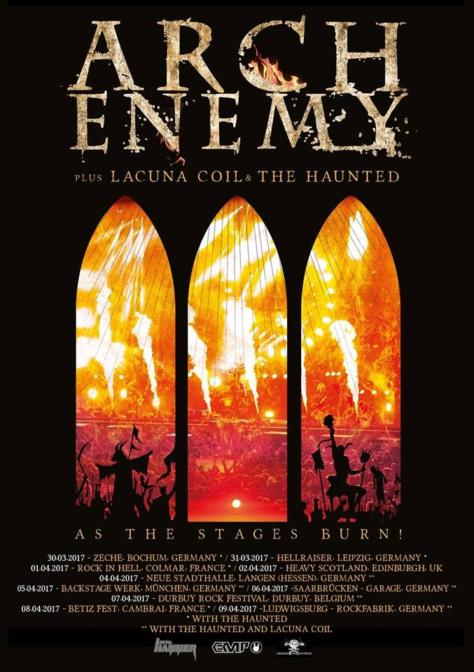 ARCH ENEMY, trailer du nouveau DVD AS THE STAGES BURN!