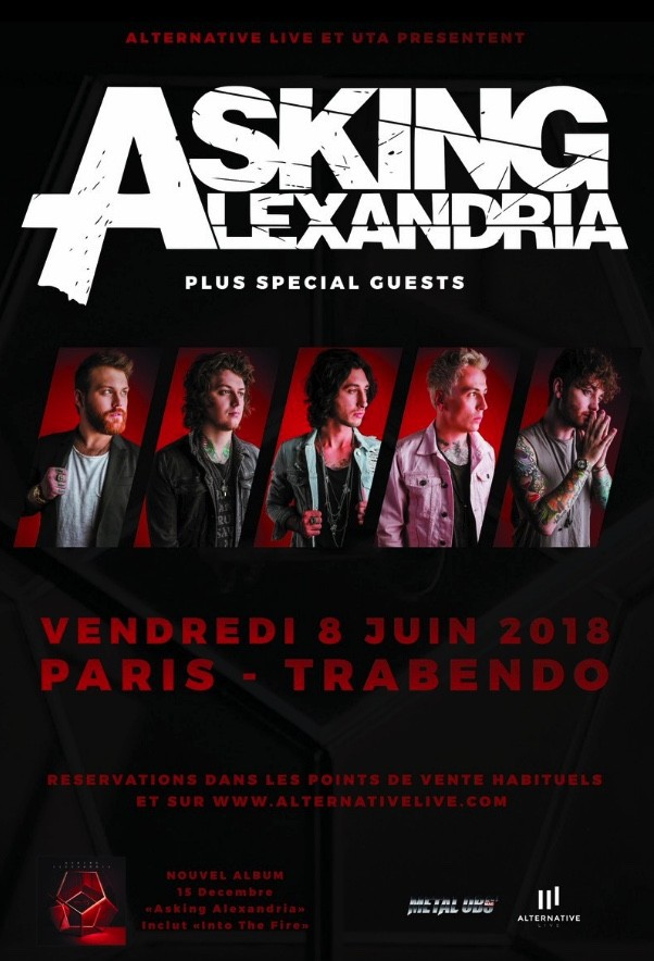 ASKING ALEXANDRIA : Nouvel album dispo ! 2 dates en France !