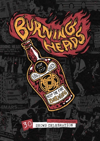 BURNING HEADS : 1987-2017 Anniversary Tour : 30 shows Celebration!