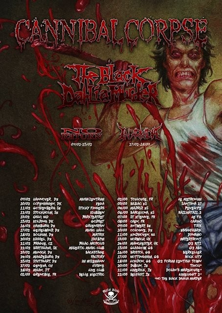 Cannibal Corpse tournera en Europe en 2018