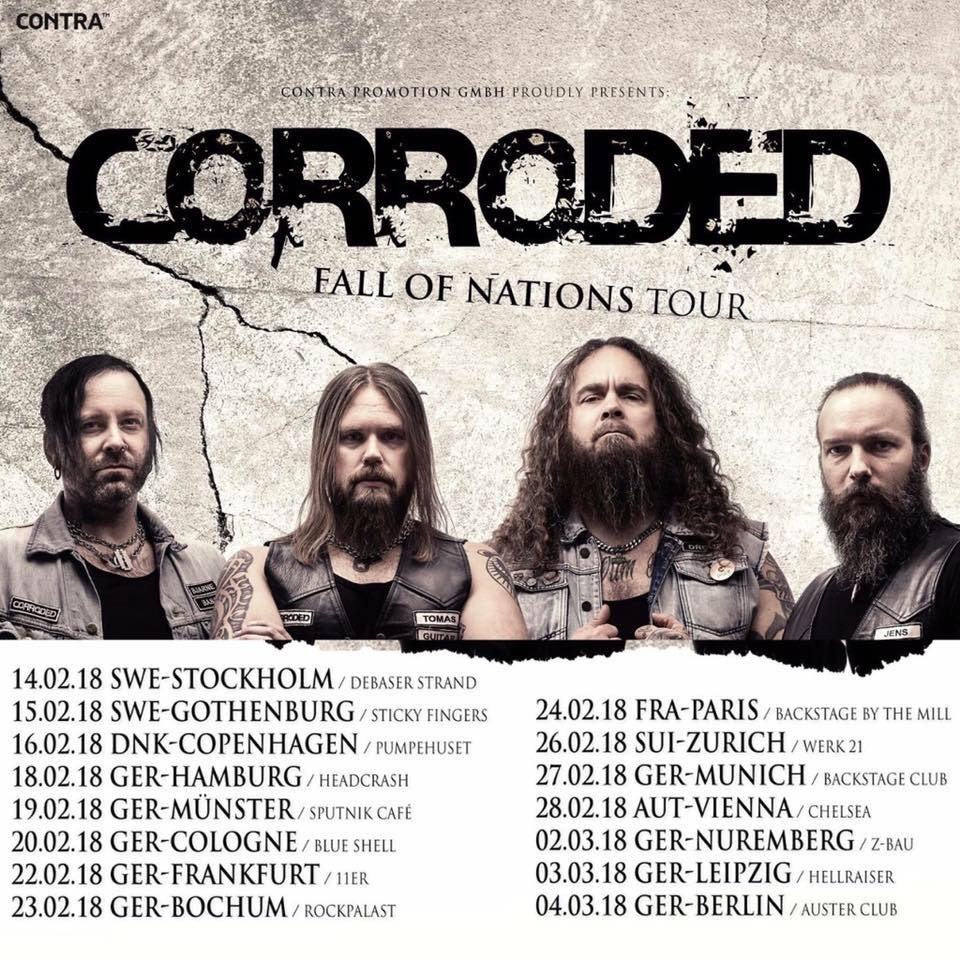 Corroded revient en France à l'occasion de la tournée Fall Of Nations