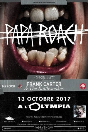 FRANK CARTER & THE RATTLESNAKES à l'Olympia avec Papa Roach !