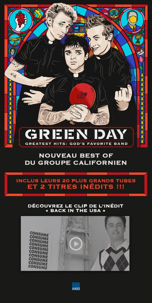 GREEN DAY :  Nouveau best of disponible!
