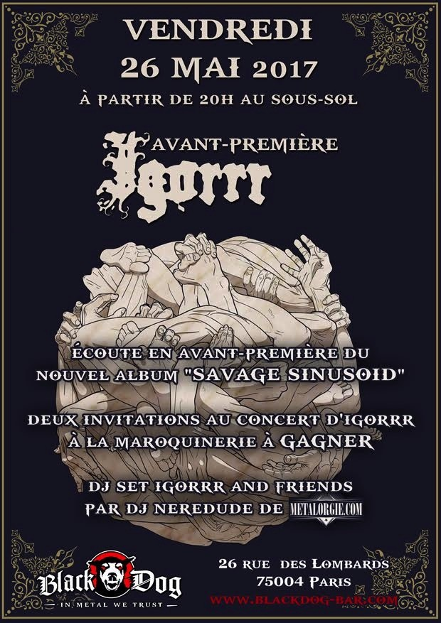 IGORRR : Release Party le 26 mai prochain au Black Dog!