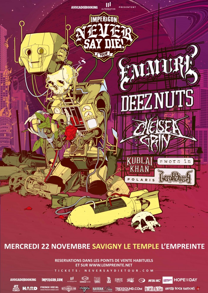 Impericon Never Say Die! Tour 2017 - Savigny Le Temple