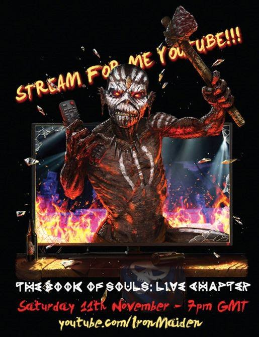 IRON MAIDEN - Livestream du film de la tournée 'The Book Of Souls' - Demain 20h!