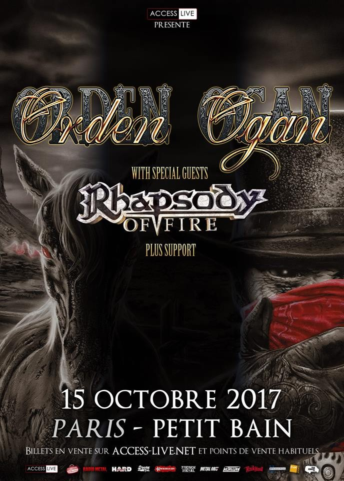 Orden Ogan et Rhapsody Of Fire à Paris