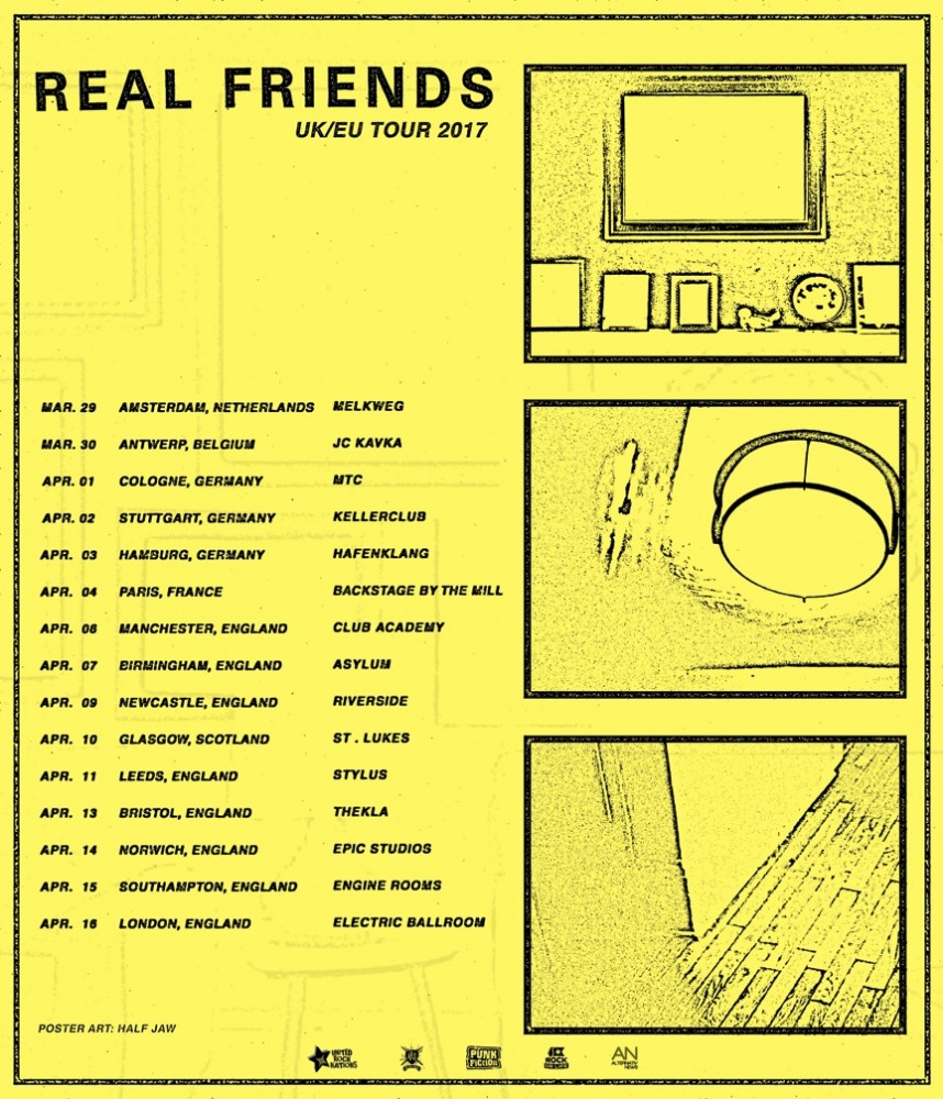 REAL FRIENDS en concert à Paris ce mardi 4 avril!