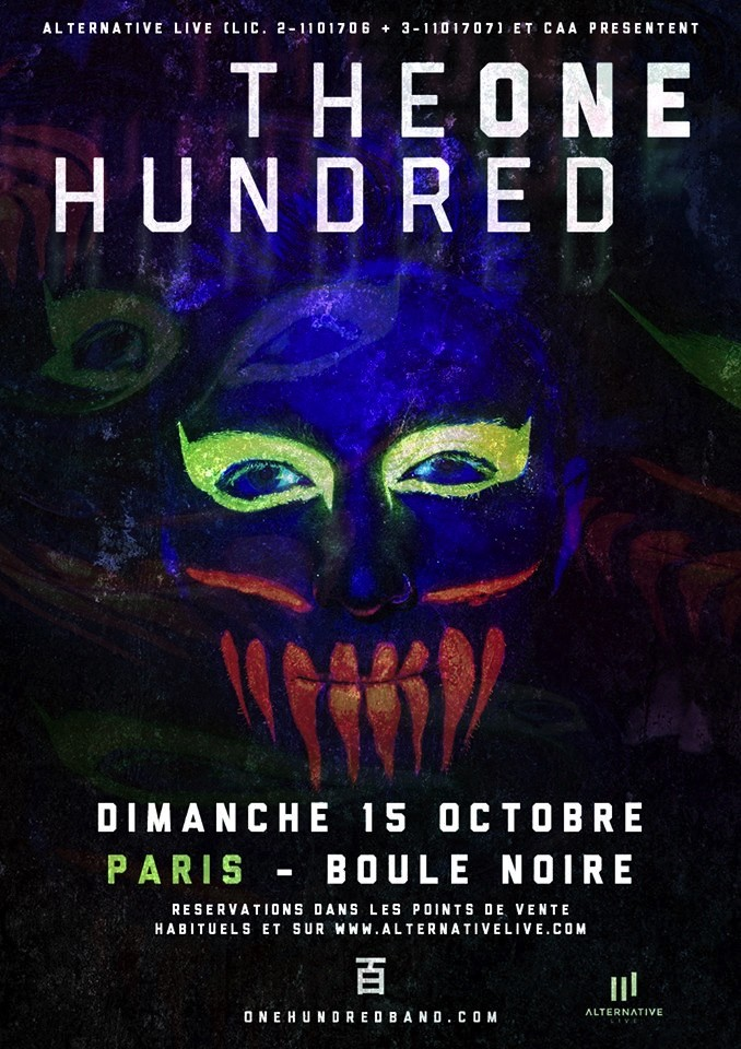 THE ONE HUNDRED : Concert à Paris le 15 octobre prochain!