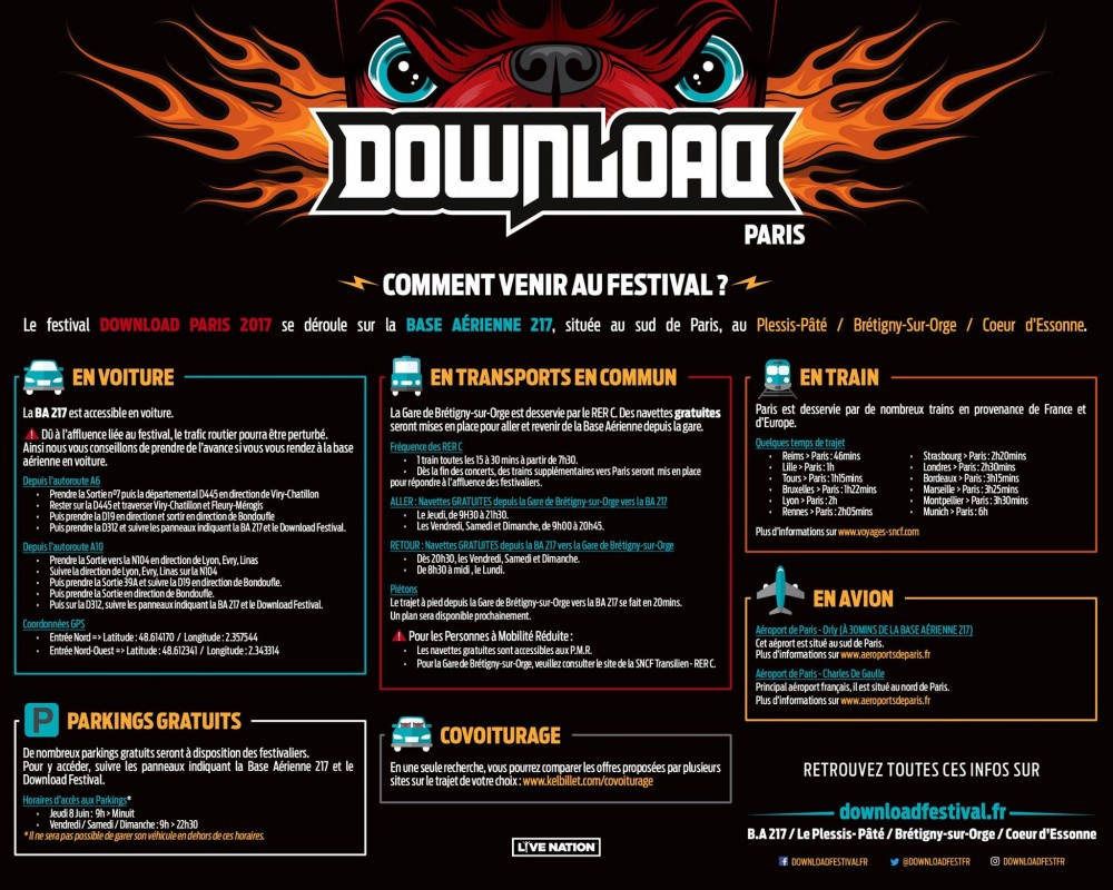 DOWNLOAD FRANCE FESTIVAL, 2 nouveaux noms a l'affiche!
