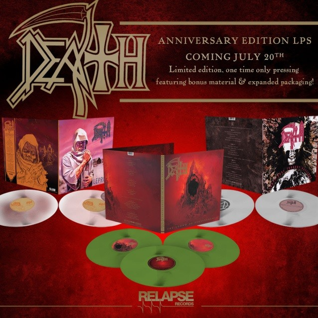 DEATH : ressortie des vinyles de « Leprosy », « Individual Through Patterns » et « The Sound Of Perseverance » en édition collector pour juillet !