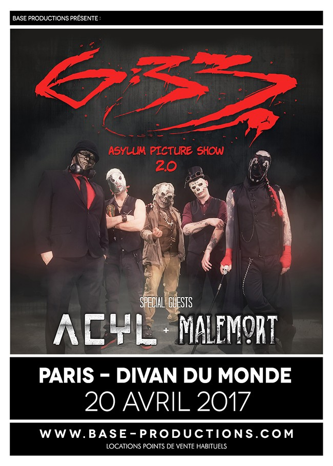 BASE PRODUCTIONS, les prochains concerts, 7WEEKS/NIGHTMARE/6:33 !