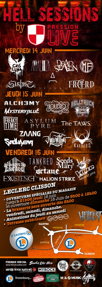 HELL SESSIONS by Hellfest, en partenariat avec UNITED ROCK NATIONS