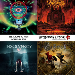 LES ALBUMS DU MOIS DE LA REDACTION de THE CHARM THE FURY, SMASH INTO PIECES, RICH ROBIN et ONE OK ROCK