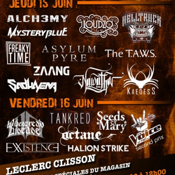 HELL SESSIONS by Hellfest, en partenariat avec UNITED ROCK NATIONS de 14, 15, 16 juin à Clisson