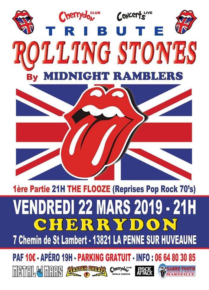 Tribute Rolling Stones By Midnight Ramblers + The Flooze