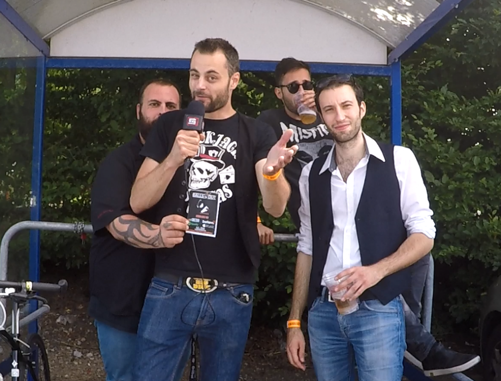 Interview BALLS OUT sur le parking de Leclerc, Clisson, Hellfest 2018