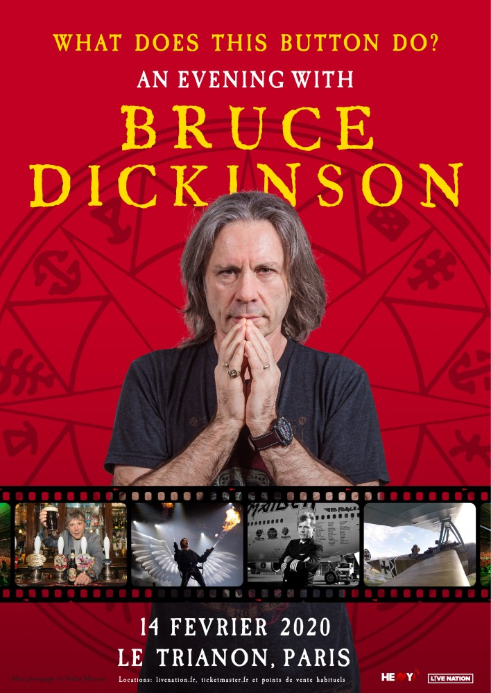 👉 An evening with Bruce Dickinson au Trianon le 14 février 2020!