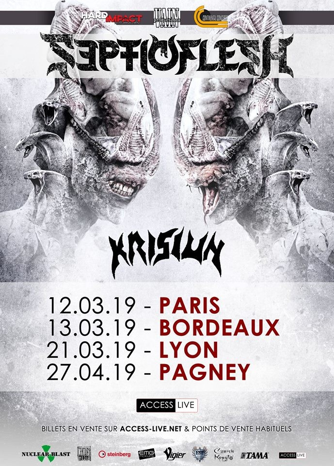 ACCESS LIVE nous propose SEPTICFLESH / Krisiun / DIABOLICAL / Xaon à la Machine du Moulin Rouge !