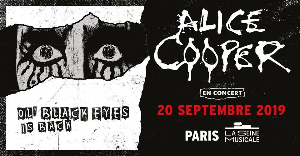 Alice Cooper · Ol' Black Eyes Is Back Tour à La Seine Musicale