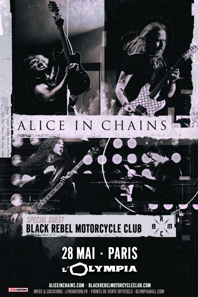 Alice in Chains en concert à Paris le 28 mai 2019!