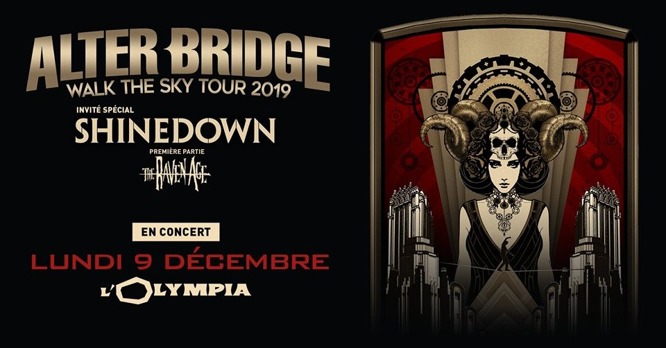 Alter Bridge de retour en France le 09/12/2019