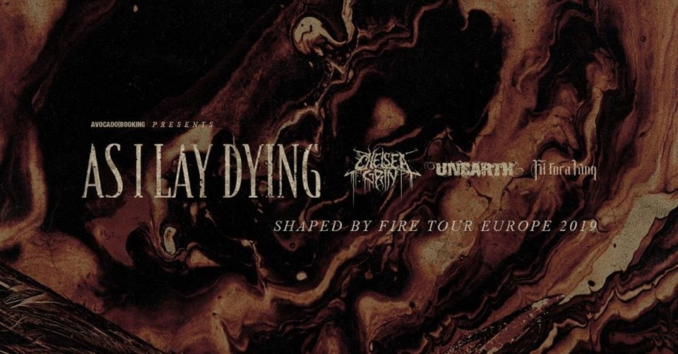 As I Lay Dying - Shaped By Fire Tour Europe 2019 l Paris