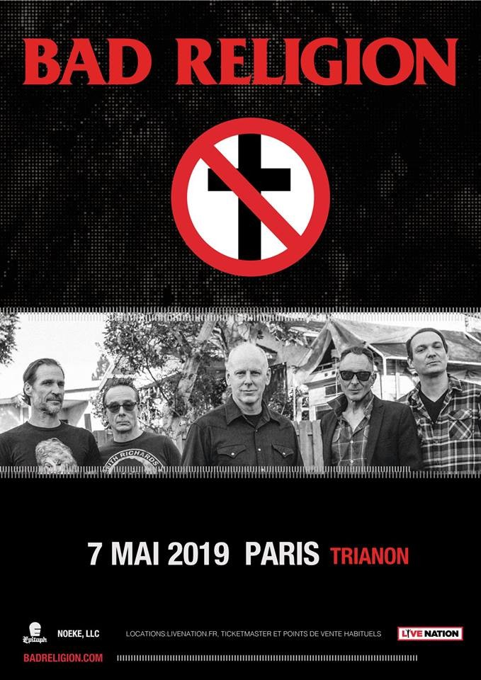 BAD RELIGION en concert à Paris le 07/05/2019!