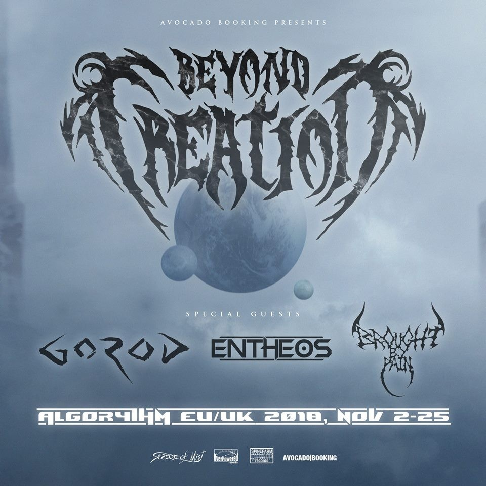 Beyond Creation part en tournée avec Gorod, Entheos et Brought By Pain