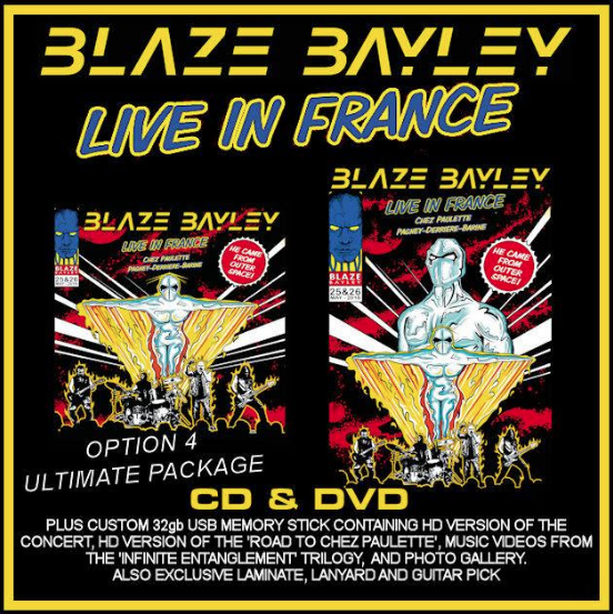 Blaze Bayley, un nouvel album ''Live In France'' 🇫🇷 ! En concert à Paris le 16 Mars !