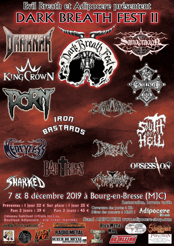Ce week-end  les 7& 8 décembre , Festival Dark Breath à Bourg en Bresse