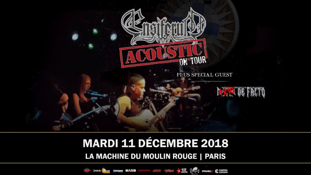 ENSIFERUM en concert acoustique le 11/12/2018 à la Machine du Moulin Rouge !
