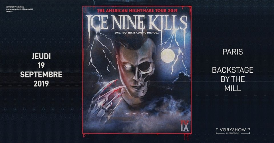 Ice Nine Kills en concert à Paris le 19/09/2019