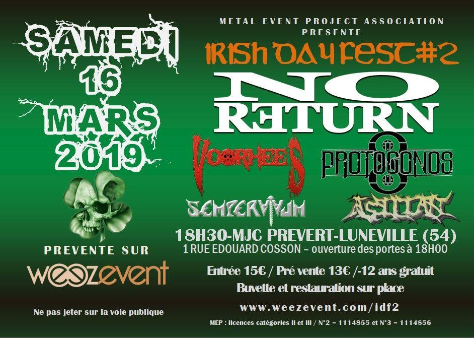 Irish Day Fest #2, viens fêter les 30 ans de No Return!