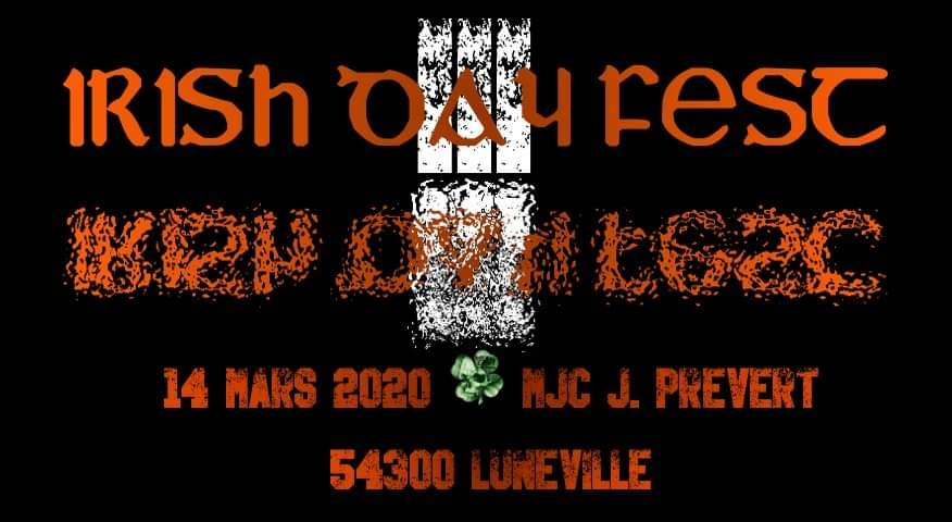 Metal Event Project organise son Irish Day Fest #3 le 14 mars prochain!