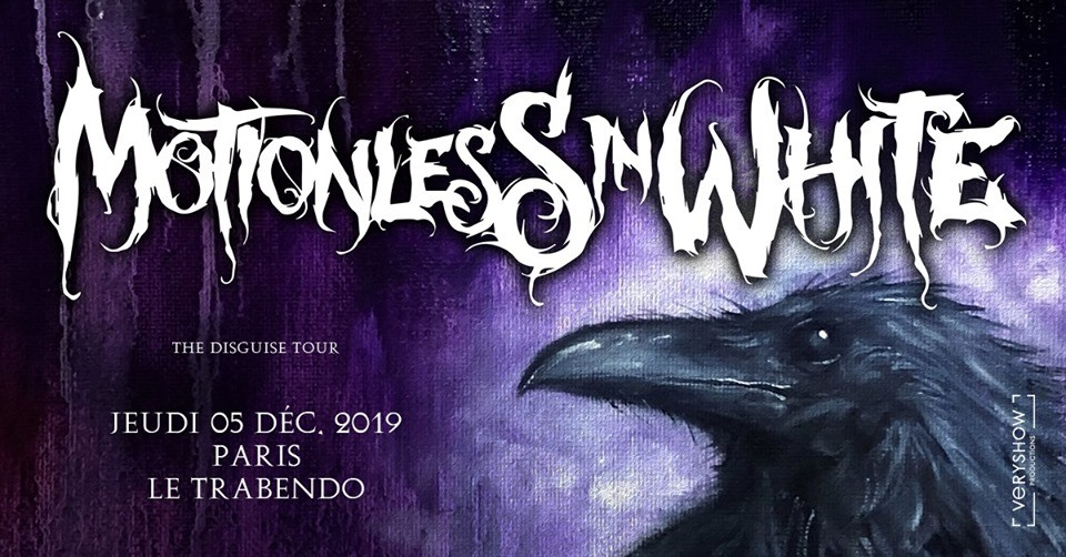 Motionless In White de retour au Trabendo le 05/12/2019