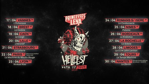 Princesses Leya au HELLFEST W4RM UP 7OUR !