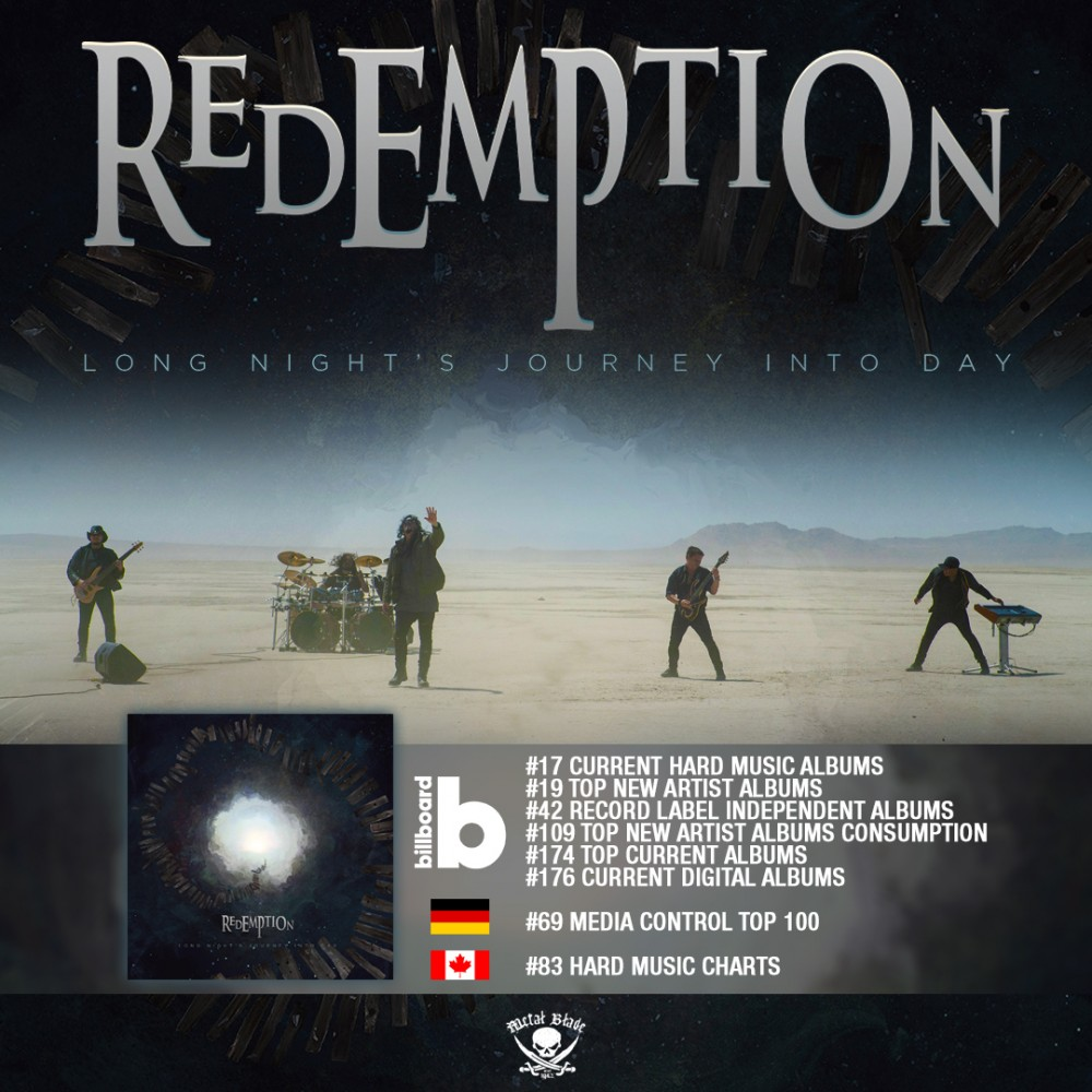 REDEMPTION : ''Long Night's Journey Into Day'', dans les Charts internationaux!