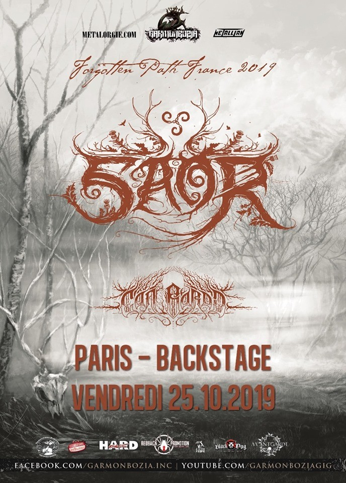 Saor, Cân Bardd le vendredi 25 octobre 2019 au O'Sullivans Backstage By The Mill !