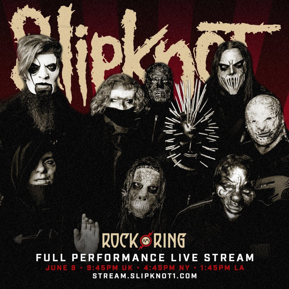 Slipknot en live au festival Rock Am Ring en Allemagne.