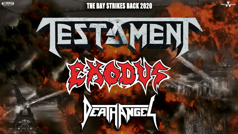 TESTAMENT, EXODUS et DEATH ANGEL le 01/03/2020 à Paris!