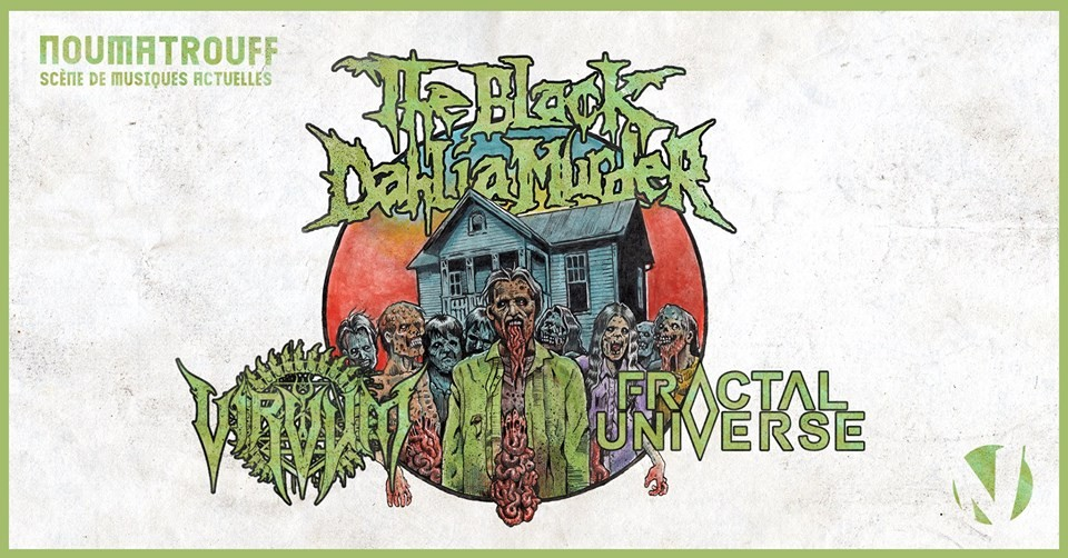 The Black Dahlia Murder + guests en concert à Mulhouse au Noumatrouff, le 30 avril!
