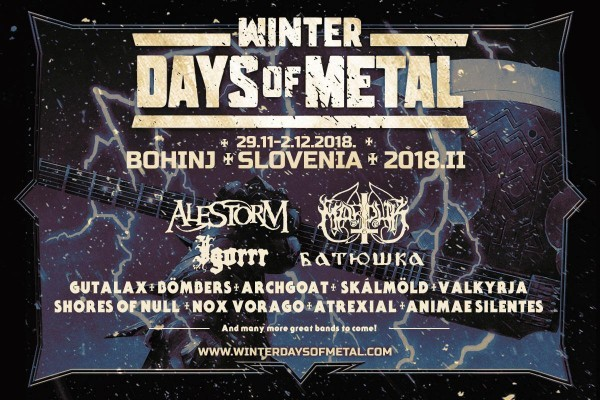 WINTER DAYS OF METAL : Edition 2018 du 29 novembre au 2 décembre 2018!