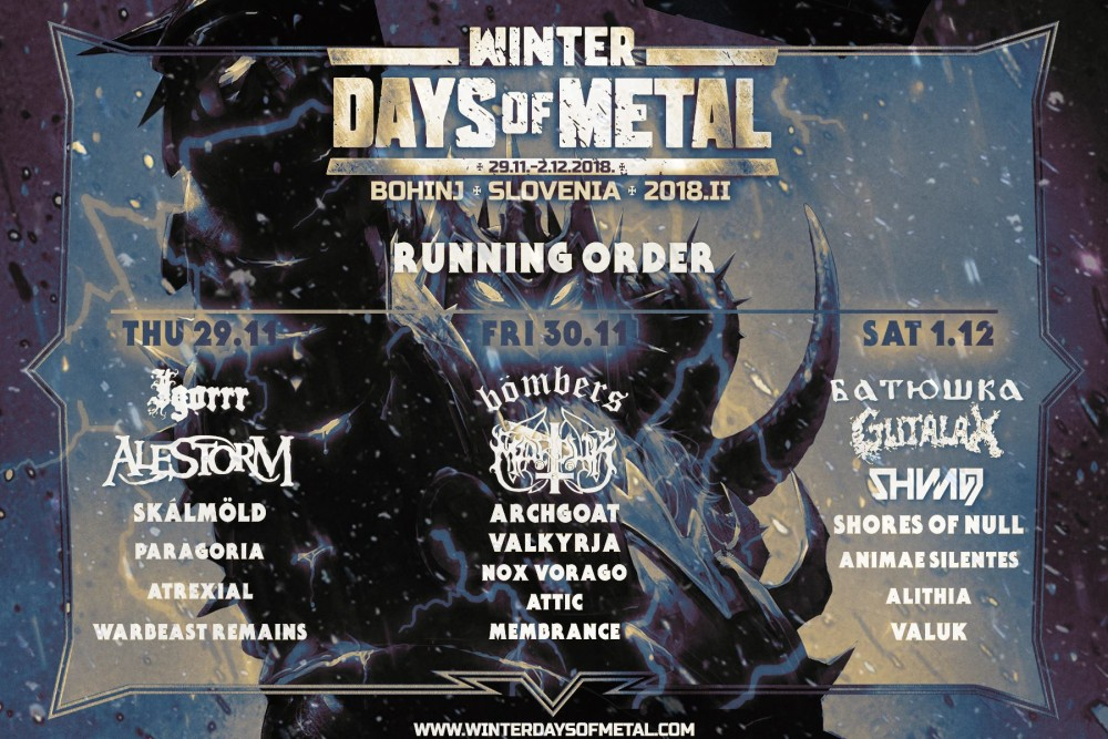 Winter Days Of Metal, l'affiche 2018!