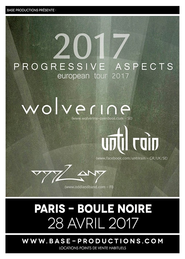 WOLVERINE + UNTIL RAIN + ODDLAND ce vendredi à Paris!