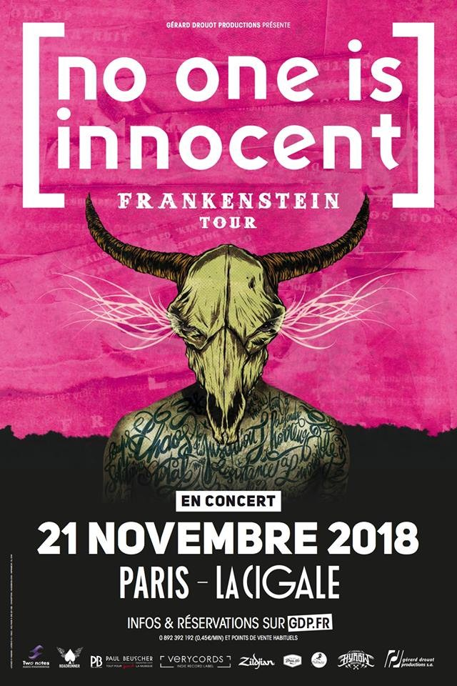 NO ONE IS INNOCENT en concert le 21 novembre à la Cigale!