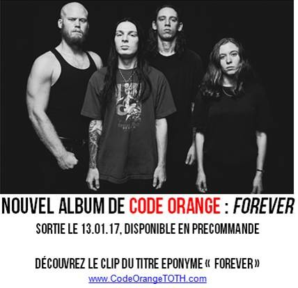 CODE ORANGE - Nouvel album FOREVER le 13 Janvier