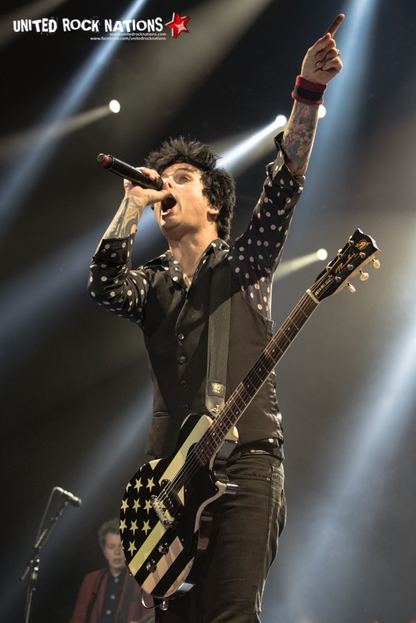 Porte folio - Green Day à l'AccorHôtels Arena - Paris le 03 février 2017