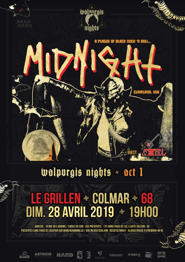 Gagne des invitations pour MIDNIGHT et OF STEEL à Colmar (Grillen) le 28 avril